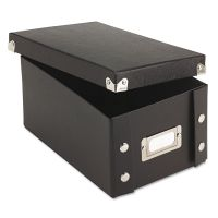Snap-N-Store Collapsible Index Card File Box, Holds 1,100 4 x 6 Cards, Black IDESNS01577