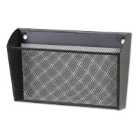 Universal Metal Mesh Wall FileSingle Pocket, 14 1/8 x 3 3/8 x 8 1/8, Letter, Black UNV20026