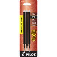 Pilot Refill for FriXion Erasable Gel Ink Pen, Black, 3/Pk PIL77330