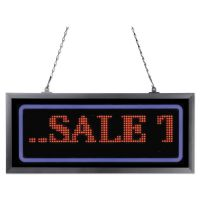 """Artistic Programmable LED Message Board with Blue Border, 11"""" x 25"""", Red/Blue AOP34107"""
