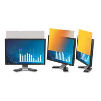 """3M Frameless Gold LCD Privacy Filter for 19"""" Monitor MMMGF190C4B"""