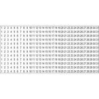 SRM Calendar Number Stickers NOTM223714