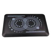 "Floortex AFS-TEX 2000 Anti-Fatigue Mat, Rectangle, 16"" x 24"", Midnight Black FLRFCA21624BK"