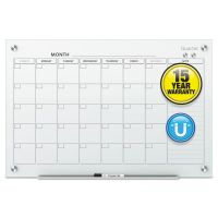 Quartet Infinity Magnetic Glass Calendar Board, 24 x 18 QRTGC2418F