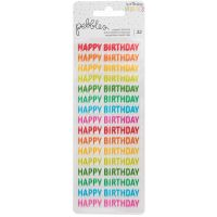 Happy Hooray Clear Repeat Stickers 2/Pkg NOTM201797