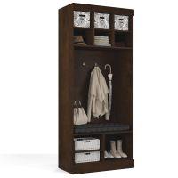 "Bestar Pur by Bestar 36"" Storage unit with bench in Chocolate BESBES2616769"
