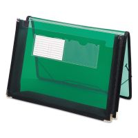 """Smead 2 1/4"""" Exp Wallet, Poly, Letter, Translucent Green SMD71951"""