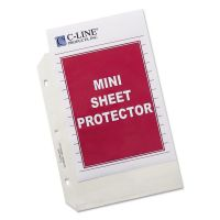 C-Line Heavyweight Polypropylene Sheet Protector, 8 1/2 x 5 1/2, Heavy Gauge, Clear, 50/BX CLI62058