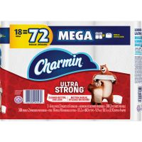 Charmin Ultra Strong Toilet Paper, 2-Ply, White, 4 x 3.92 Sheet, 308 Sheets/Roll, 18 Rolls/Pack PGC99806