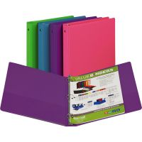 """Samsill 1"""" Round Ring Value Storage Binder, Letter Size, Assorted Colors, 1 Each SAM11399"""