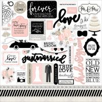 "Wedding Bliss Cardstock Stickers 12""X12"" NOTM479646"