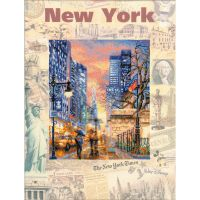 Riolis Cities Of The World: New York Counted Cross Stitch Kit NOTM105391