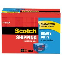 """Scotch 3850 Heavy-Duty Packaging Tape Cabinet Pack, 1.88"""" x 54.6yds, 3"""" Core, 18/Pack MMM385018CP"""
