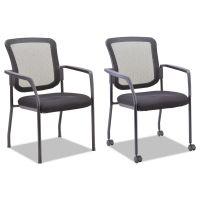 Alera Mesh Guest Stacking Chair, Black ALEEL4314