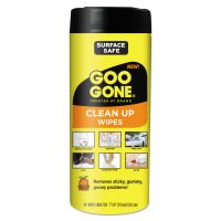 Goo Gone Clean Up Wipes, 8 x 7, Citrus Scent, White, 24/Canister, 4 Canister/Carton WMN2000