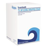 "Boardwalk Flexible Wrapped Straws, 7 3/4"", White, 400/Pack BWKFSTW775W25PK"