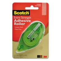 "Scotch Extra Strength Adhesive Roller, 3/8"" x 396"" MMM6055ES"