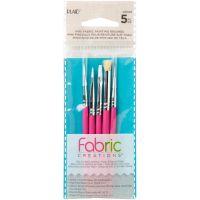 Fabric Creations Tools - Fabric Paint Brush Set 5/Pkg NOTM466909