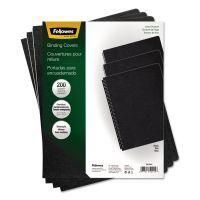 Fellowes Linen Texture Binding System Covers, 11-1/4 x 8-3/4, Black, 200/Pack FEL52115
