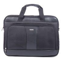 "Gregory Executive Briefcase, 18"" x 9"" x 18"", Nylon/Synthetic Leather, Black BUGEXB526"