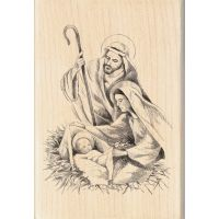 "Inkadinkado Christmas Mounted Rubber Stamp 2.75""X4"" NOTM416299"