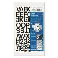 """Chartpak Press-On Vinyl Letters & Numbers, Self Adhesive, Black, 1""""h, 88/Pack CHA01030"""