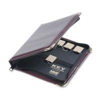 SteelMaster Portable Zippered Key Case, 24-Key, Leather-Like Vinyl, Burgundy, 8 3/8 x 7 MMF201502417