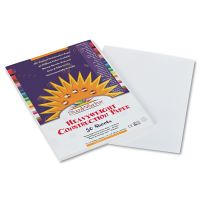 SunWorks Construction Paper, 58 lbs., 9 x 12, White, 50 Sheets/Pack PAC9203