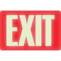 Headline Sign Glow In The Dark Sign, 8 x 12, Red Glow, Exit USS4792