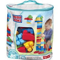 Mega Bloks First Builders Big Building Bag, 80-Piece (Classic) MBLDCH63