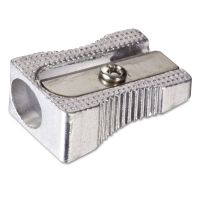 Officemate Metal Pencil Sharpener, Metallic Silver, 4/Pack OIC30218