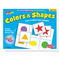 TREND Colors and Shapes Match Me Puzzle Game, Ages 4-7 TEPT58103