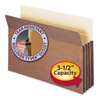 "Smead 3 1/2"" Exp File Pocket, Straight Tab, Legal, Manila/Redrope, 50/Bx SMD74805"