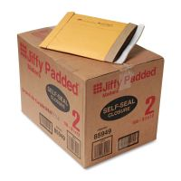 Sealed Air Jiffy Padded Self Seal Mailer, #2, 8 1/2 x 12, Natural Kraft, 100/CT SEL67068