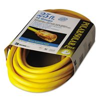 CCI Polar/Solar Indoor-Outdoor Extension Cord With Lighted End, 25ft, Yellow COC01687