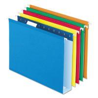 "Pendaflex Reinforced 2"" Extra Capacity Hanging Folders, 1/5 Tab, Letter, Assorted, 25/Box PFX4152X2ASST"