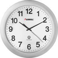 "Lorell 12"" Round Radio-controlled Wall Clock LLR60996"