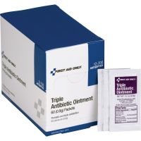 First Aid Only Triple Antibiotic Ointment, 0.5 g Packet, 60/Box FAO12700