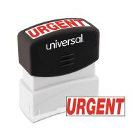 Universal Message Stamp, URGENT, Pre-Inked One-Color, Red UNV10070