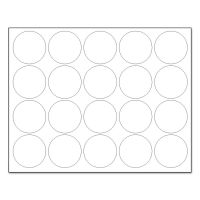 """MasterVision Interchangeable Magnetic Board Accessories, Circles, White, 3/4"""", 20/Pack BVCFM1618"""
