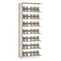 Tennsco Snap-Together Seven-Shelf Closed Add-On Unit, Steel, 36w x 12d x 88h, Sand TNN1288ACSD