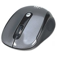 Manhattan Wireless Optical USB Mouse, 2000 dpi, Black/Silver SYNX3434712