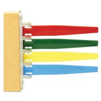 Unimed Status Flags, 4 Flags, Assorted Colors IMCI4PF169434