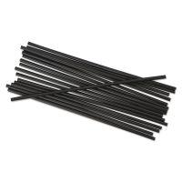 "Boardwalk Unwrapped Single-Tube Stir-Straws, 5 1/4"", Black, 1000/Pack BWKSTRU525B10PK"