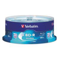 Verbatim BD-R Blu-Ray Disc, 25GB, 6x, 25/Pk VER97457