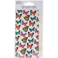 Simply Creative Decoupage Paper 18.8cm X 35cm 4/Pkg NOTM336645
