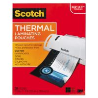 Scotch Letter Size Thermal Laminating Pouches, 3 mil, 11 1/2 x 9, 50/Pack MMMTP385450