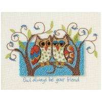Owl Always Be Your Friend Punch Needle Kit NOTM356043