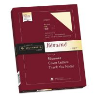 Southworth 100% Cotton Resume Paper, Ivory, 24lb, 8 1/2 x 11, Wove, 100 Sheets SOUR14ICF