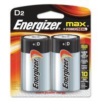 Energizer MAX Alkaline Batteries, D, 2 Batteries/Pack EVEE95BP2